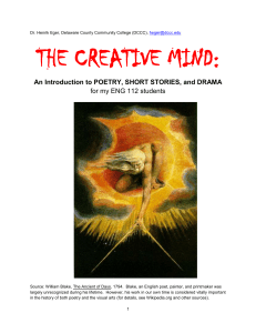 Introduction to the three genres: Short stories, poetry
