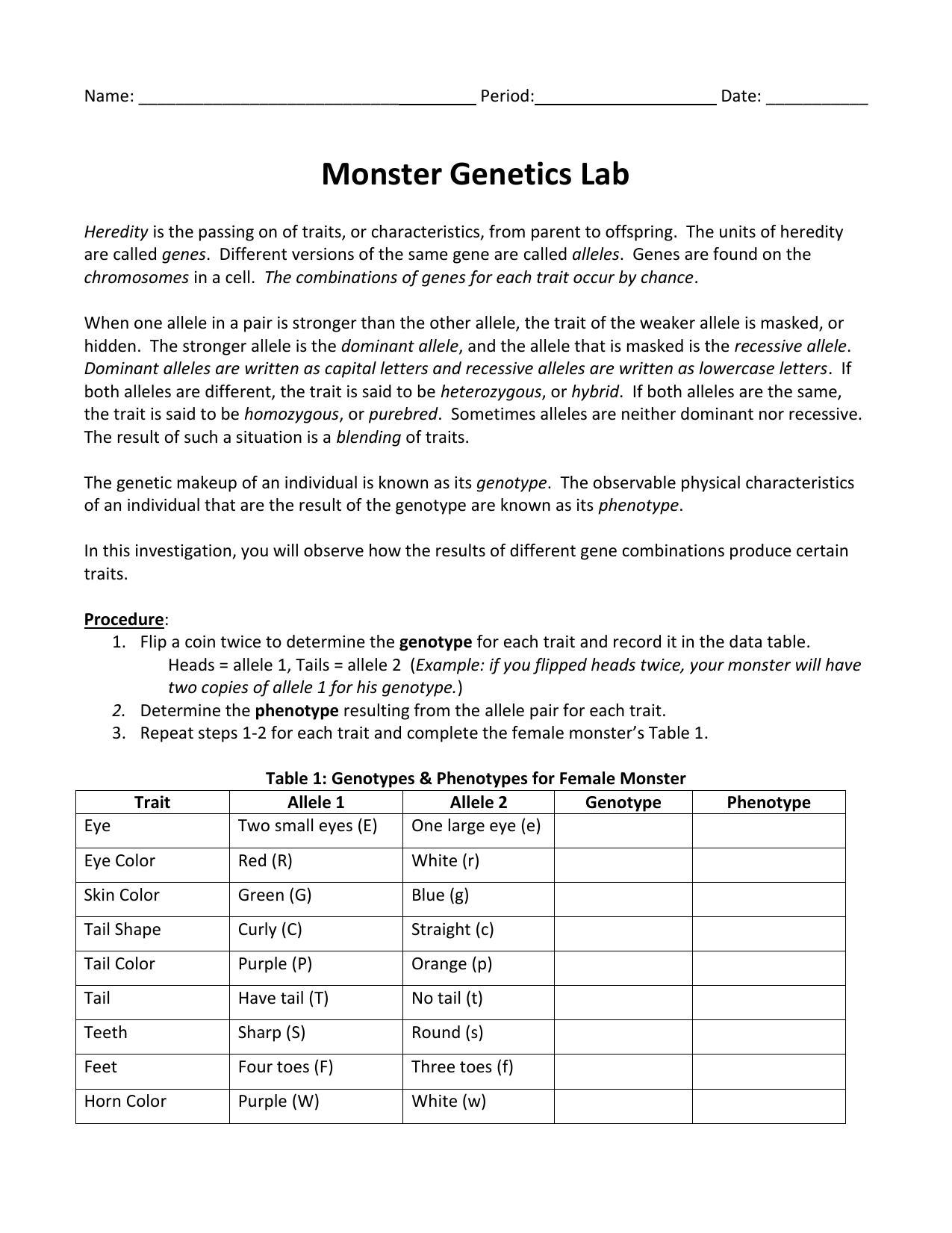 Monster Genetics Lab