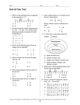 Name Date Class End-of-Year Test Original content Copyright © by