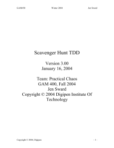 Scavenger Hunt TDD - Drexel Game Design