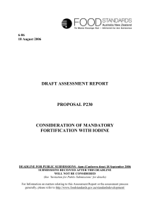 DRAFT ASSESSMENT REPORT PROPOSAL P230