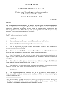 RECOMMENDATION ITU-R M.1372-1 - Efficient use of the radio