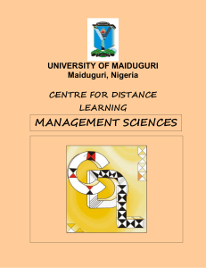 university of maiduguri - Unimaid, Centre for Distance Learning