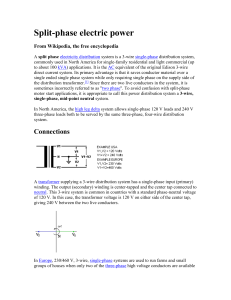 Split-phase electric power - University of Utah Physics