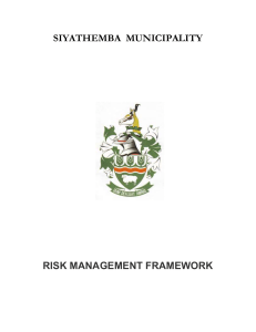 FINAL RISK MANAGEMENT FRAMEWORK