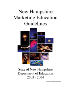 New Hampshire Marketing Education Guidelines