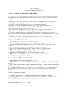 Howard Zinn Chapter questions for review Chapter 1