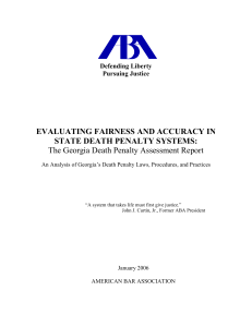 Georgia Death Penalty Assessment Report