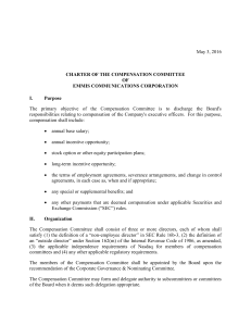 Compensation Committee Charter