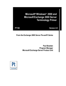 Exchange 2000 Server - Acronyms and Terminology