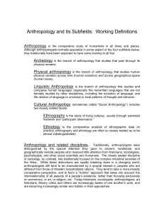 Subfields of Anthropology