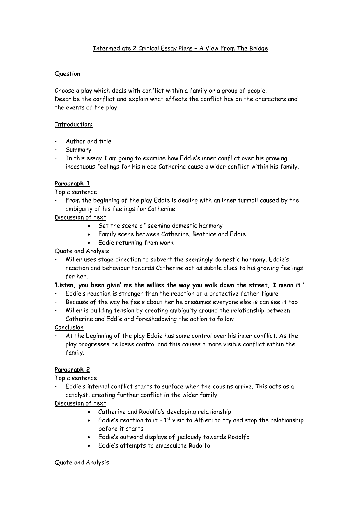 essays writing on family conflict Conflict essay (2004 family feud was to blame this essay will discuss a few points of conflict in the story.