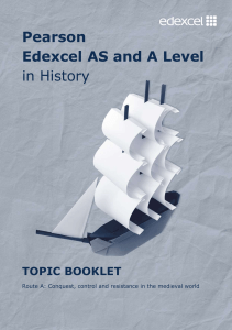 AS and A level History Route A topic booklet - Edexcel