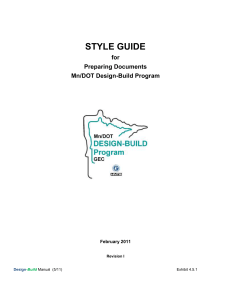 MnDOT DB Program Style Guide for Preparing Documents