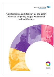 CAMHS Info Pack - Somerset Carers Network