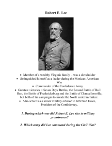 Important People of the Civil War