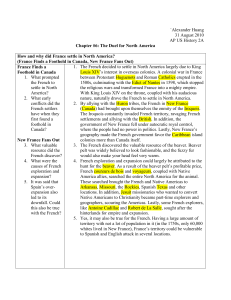`Alexander Huang 31 August 2010 AP US History 2A Chapter #6