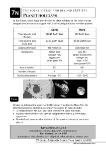 Holiday to Mars Pupil Task File