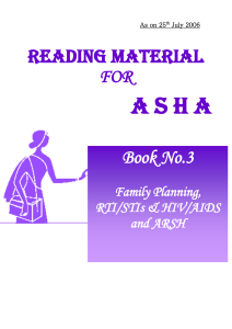 ASHA Book No3 - NRHM Manipur