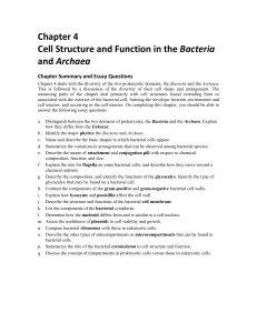 Chapter 4: Cell Structure and Function in the Bacteria and Archaea