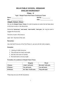 DELHI PUBLIC SCHOOL, SRINAGAR ENGLISH WORKSHEET