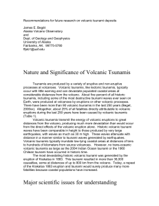 Volcanic Tsunamis - Earth and Space Sciences