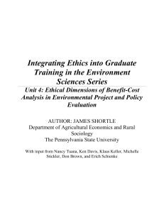Integrating Ethics into Graduate Training in the Environment