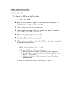 Poetry Test Review Sheet