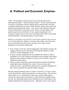 X. Political and Economic Empires