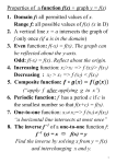 Basic Functions (chapter 1 Stewart)