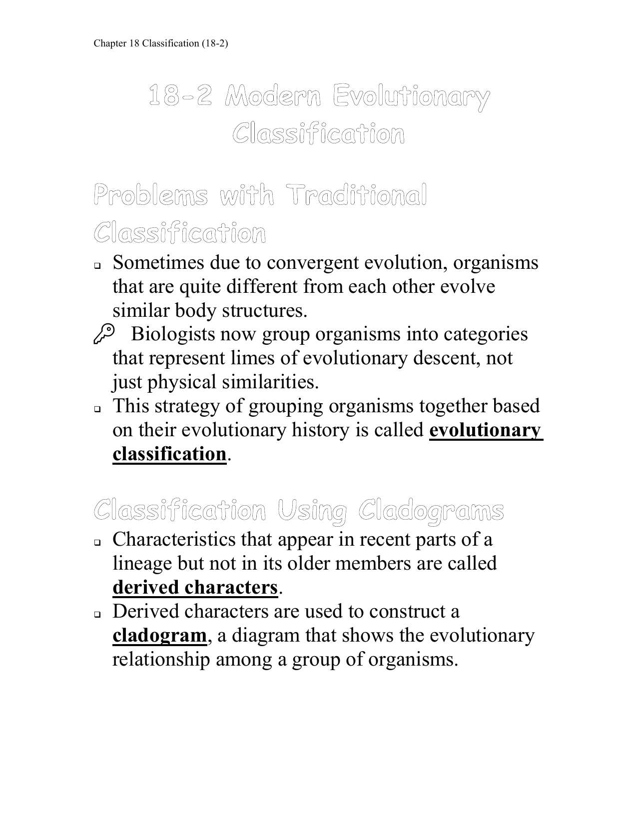Section 18 2 Modern Evolutionary Classification Worksheet ...