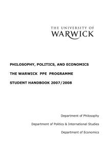 warwick ppe dissertation