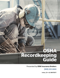 Complete OSHA Recordkeeping Guide and Forms