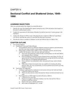 Sectional Conflict and Shattered Union, 1848