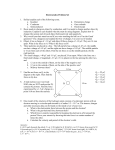 Electrostatics Problem Set
