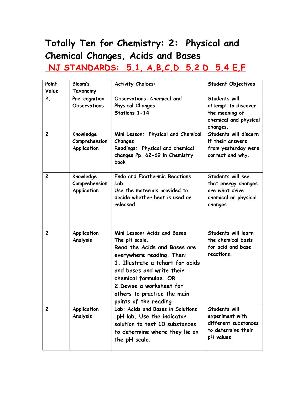 Totally ten for chemistry properties of matter ibookread Read Online