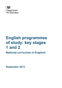 English national curriculum - St Hilda`s C of E Primary School