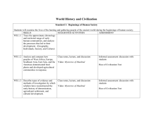 World History and Civilization