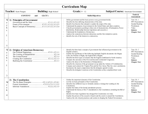 Curriculum Map - Pinconning Area School District