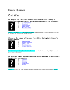 File quick quizzes- civil war answers
