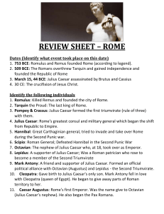 review sheet – rome - Mr. Binet / FrontPage