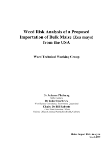3. Weed risk assessment - Department of Agriculture and Water