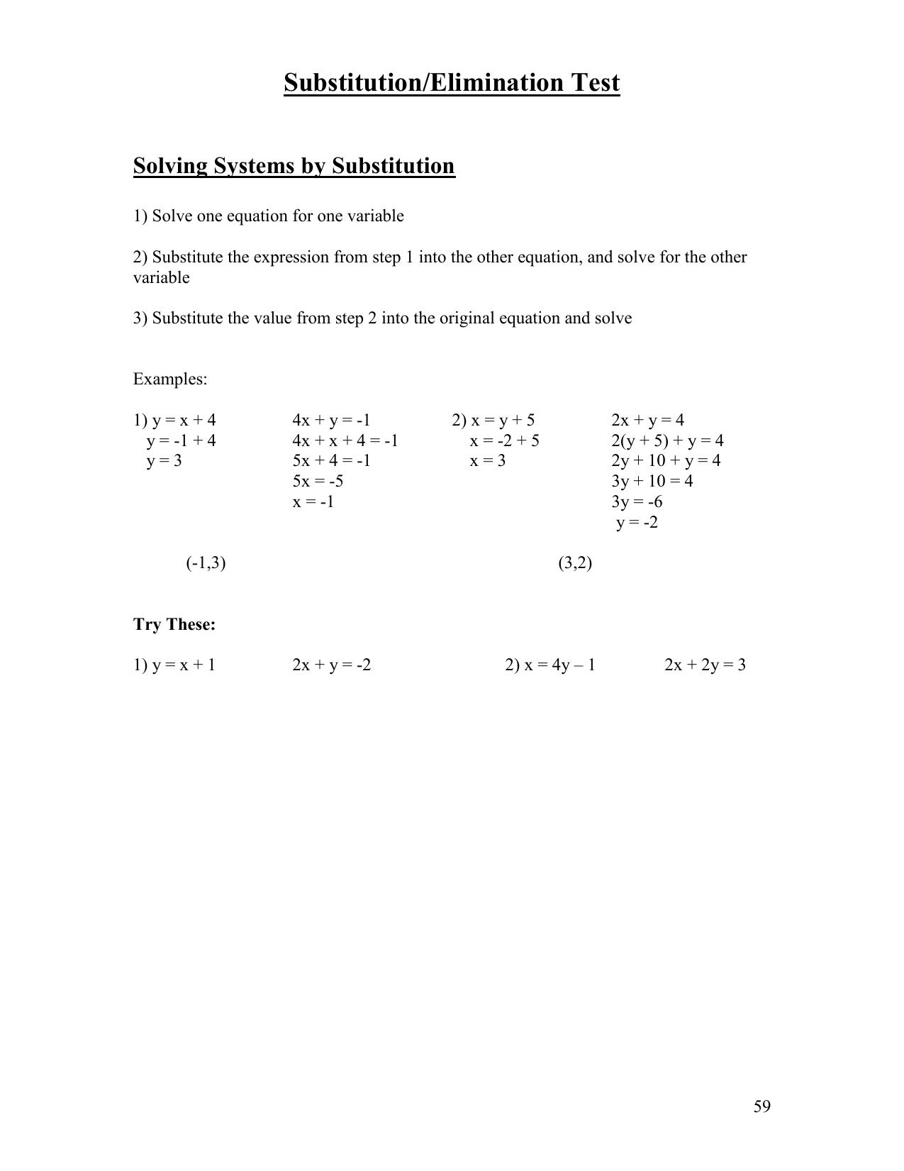 Substitutionelimination Test