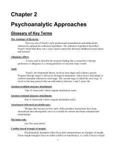 Definitions of Counseling and Psychotherapy