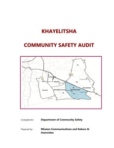 1 - Khayelitsha Commission of Inquiry