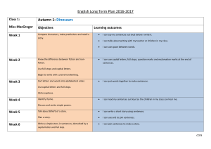English Long Term Plan new curriculum
