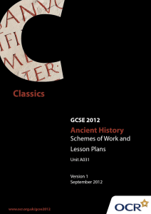The Greeks at war - Sample scheme of work and lesson plan