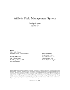 Athletic Field Management System - Senior Design
