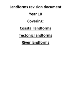 Landforms revision document