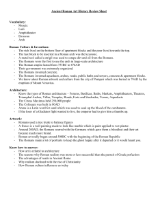 Ancient Roman Art History Review Sheet